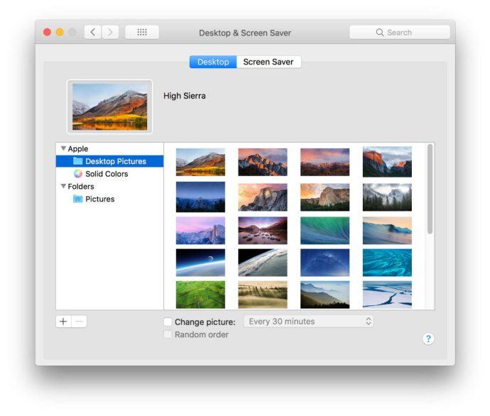 mac system preferences desktop wallpaper