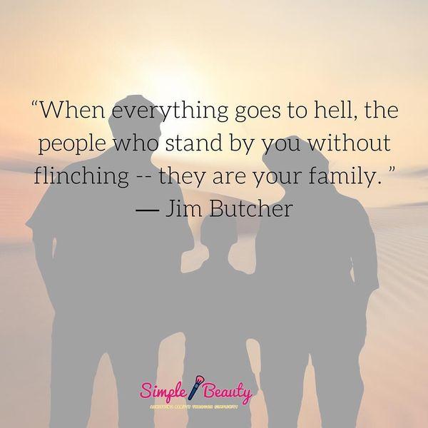 Когда все идет в ад, люди, которые поддерживают вас ...
