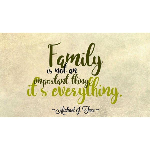 Семья - не главное.