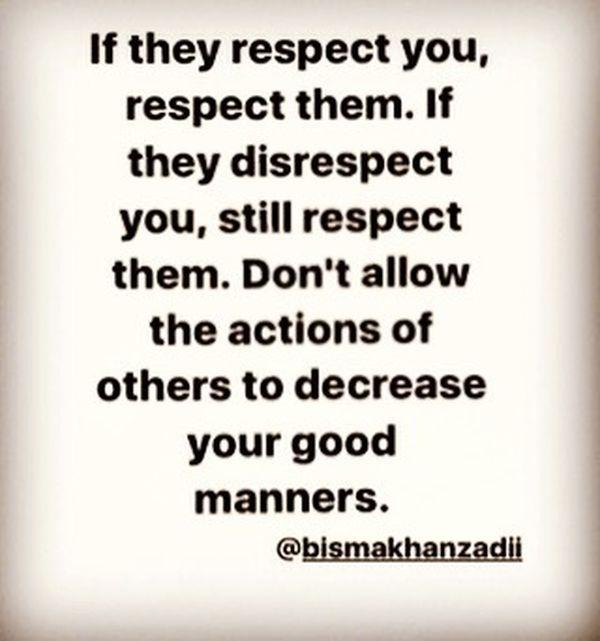 Если они уважают вас, уважайте их.