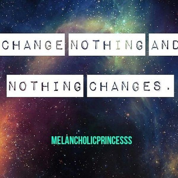Ничего не менять и ничего не меняется