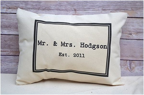 Mr. & Mrs. Personalized Pillow