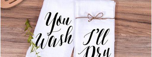 "Kitchen Towel Gift Set ""You Wash, I'll Dry"""