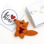 Cute Fox Brooch Be Mine