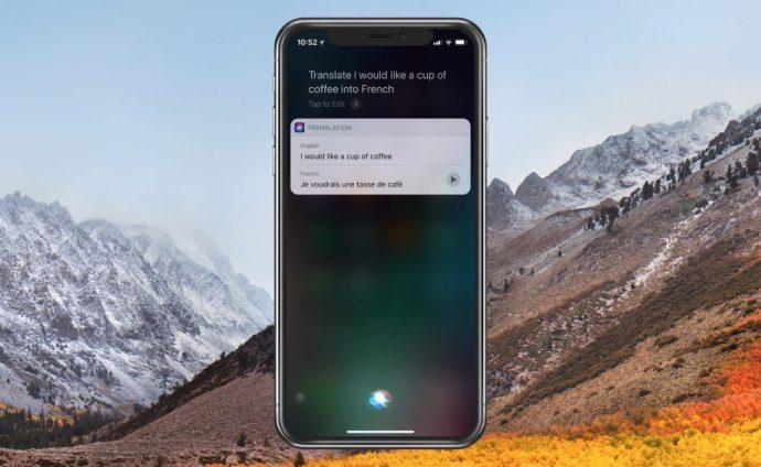 Siri Translates into French
