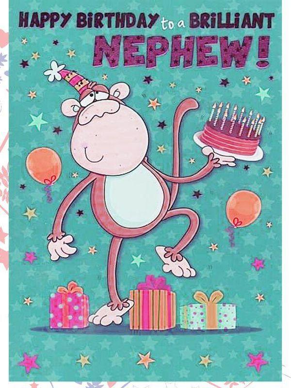 Monkey Festive Happy Birthday Nephew Images