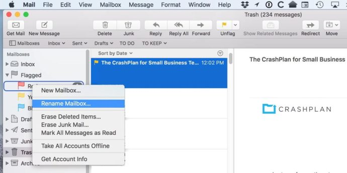 Rename Flags in Mail