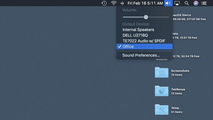 mac homepod output