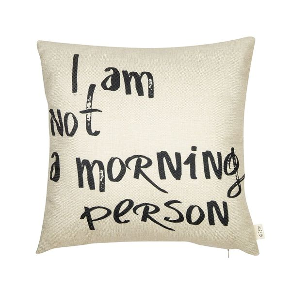 Fjfz I Am Not A Morning Person Funny Quote Cotton Decorative Pillow Case