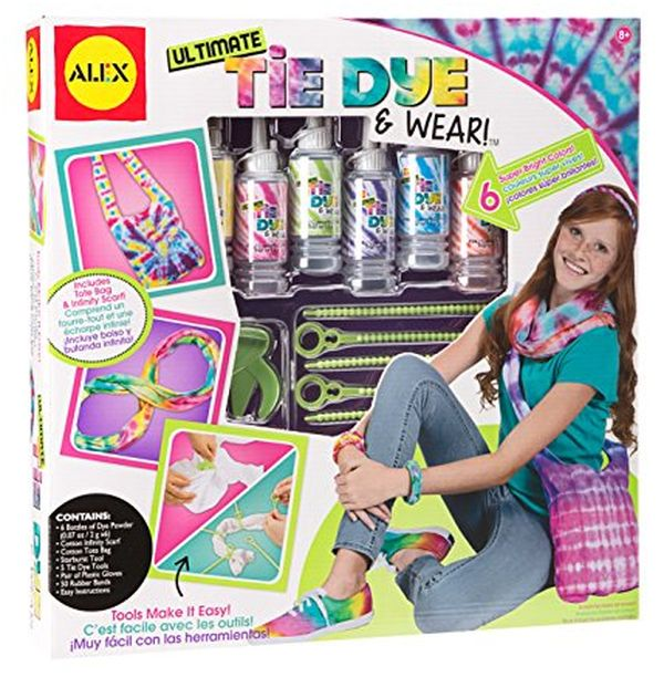 Creative toy gifts: tie dye kit for 11 year old girls