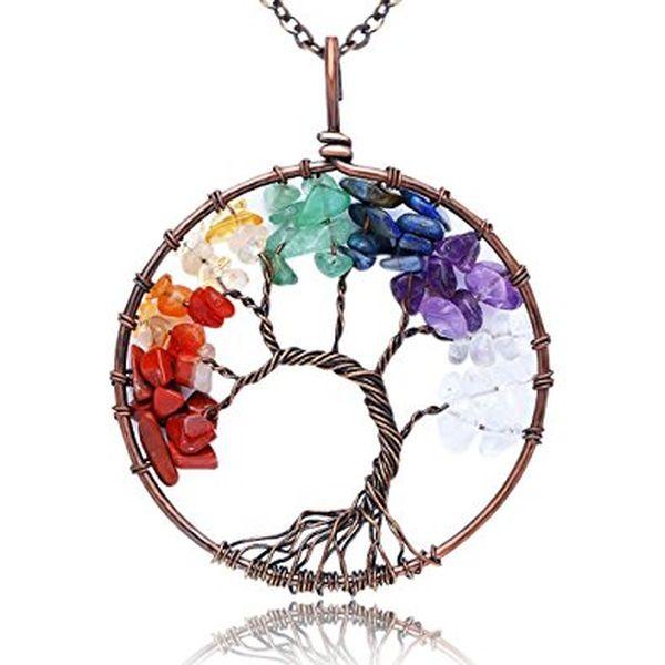 KISSPAT Tree of Life Pendant Necklace