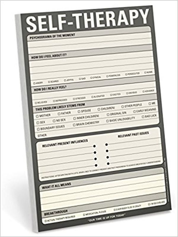 Knock Knock SelfTherapy Note Pad