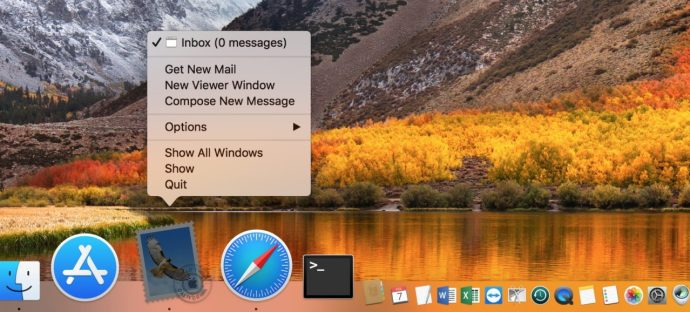 Mail Icon in Dock