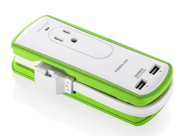 Poweradd 2Outlet Portable Surge Protector