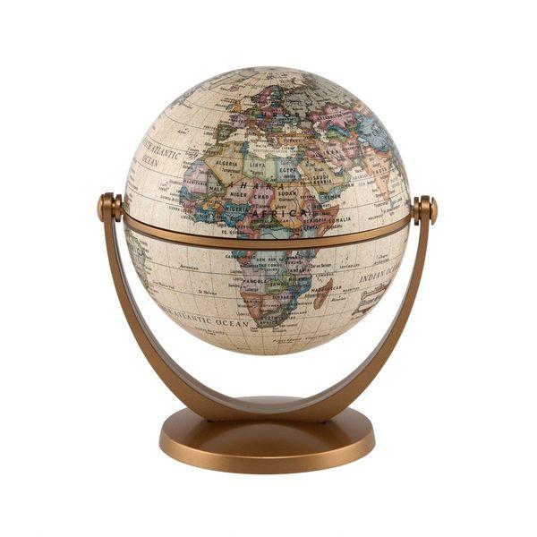 Stella Nova Political Antique Ocean Swivel and Tilt Globe
