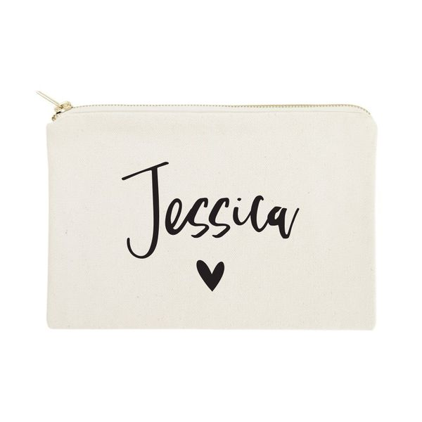 The Cotton Canvas Co Personalized Cosmetic Bag