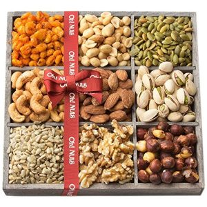 9-Section Nut Tray Gift Basket