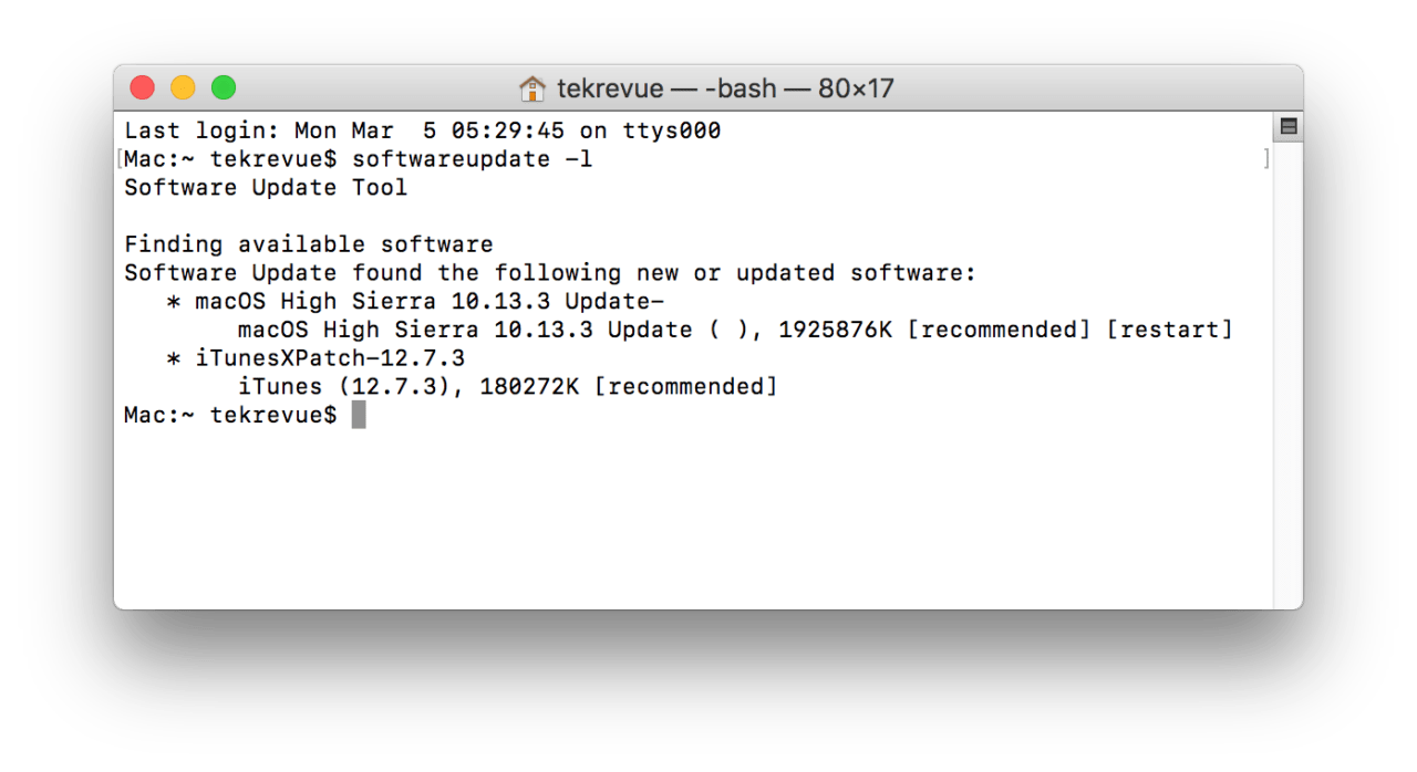 How to Run Mac Software Update via the Terminal