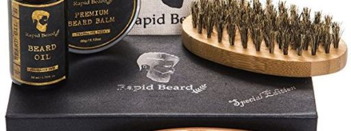 Beard grooming and trimming kit for men care
