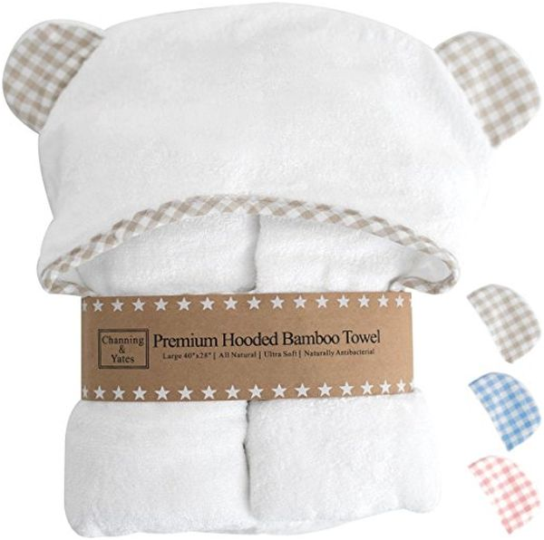 Premium Hooded Baby Towel and Washcloth Set