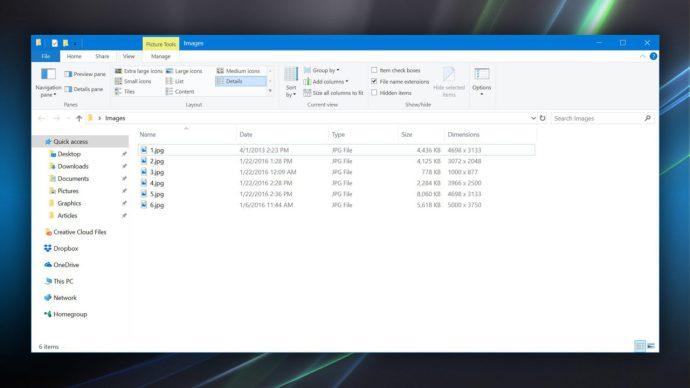 file explorer images