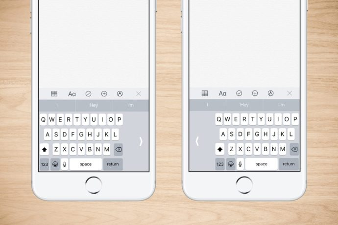 iphone keyboard with one hand
