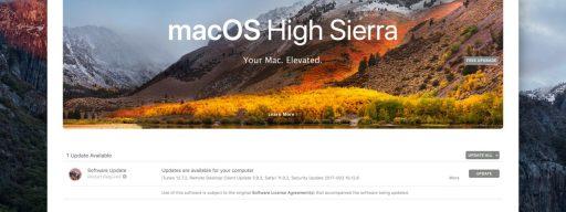 mac app store high sierra banner