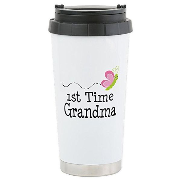 1st Time Grandma Stainless Steel Travel Mug