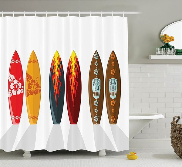 Collection of Boards with Hawaiian Patterns and Flames