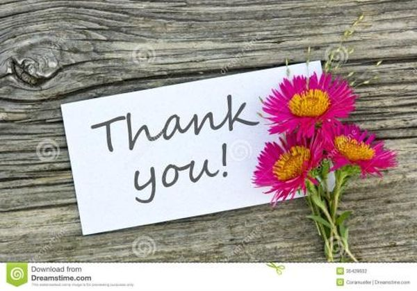 Fantastic free thank you photos to download and send