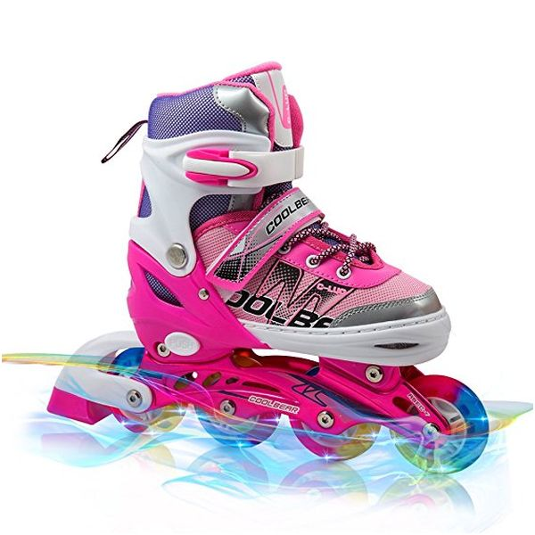 Girls Rollerblades With All Wheels Light Up