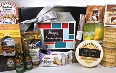 Gourmet Happy Anniversary Gift Basket Box Prime Almost 4 Pounds