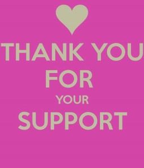 Incredibly sincere thanks for your support images