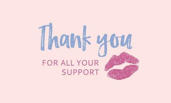 Best Sincere Thank You for Your Support Images