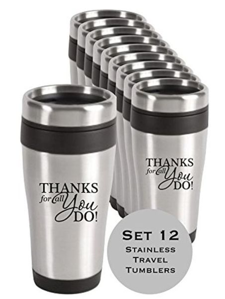 Thank You Stainless Steel Travel Mugs