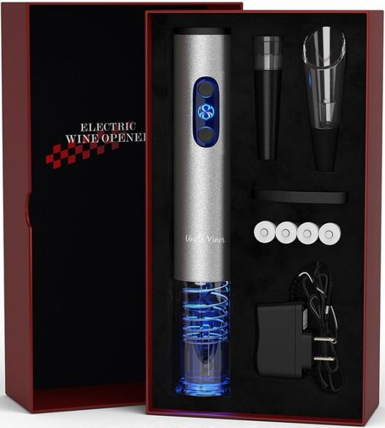 Wine Accessories Graduation Gift Set Holiday Kit With Batteries and Foil Cutter