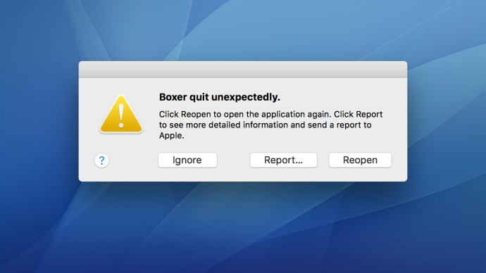 mac 32bit app crash
