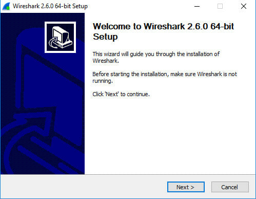 Wireshark Windows installer