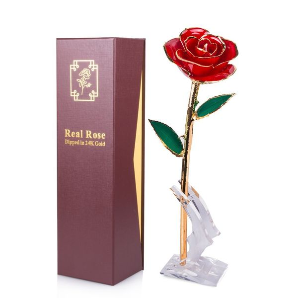 Gold dipped rose first anniversary gifts for wife