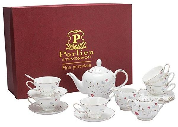 Porlien Porcelain Tea Set (18 pieces)