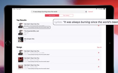 ios 12 search lyrics apple music