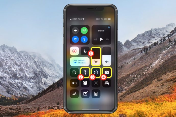 3d touch control center options