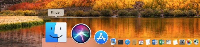 Finder in Dock