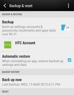 How To Backup the HTC U11