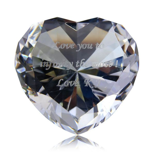 Personalized Custom Engraved Crystal Diamonds