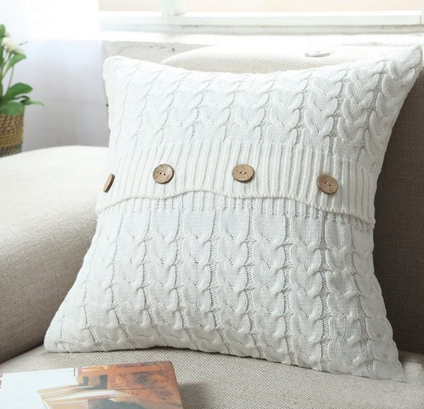 Removable Knitted Decorative Pillow Case