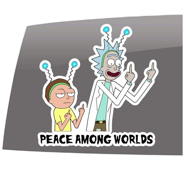 Rick and Morty decals and stickers 4