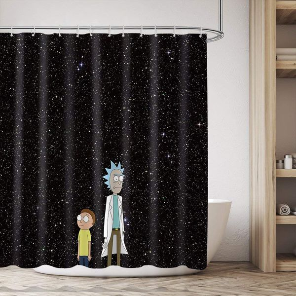 Rick and Morty shower curtain merch 1