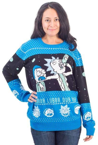 Rick and Morty sweater christmas gift 1