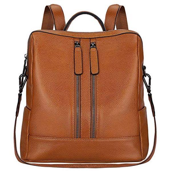 SZONE Lightweight Women Genuine Leather Backpack